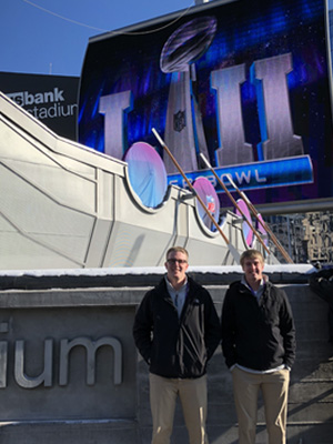 Josh Hornstra and Conner Ubben at US Bank Stadium