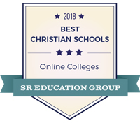 Badge for top online programs ranking from SR Education Group