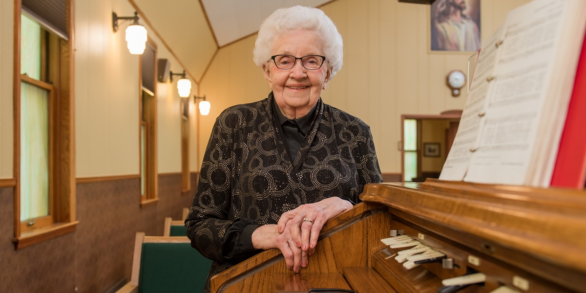 Alene Wiebesiek began playing hymns by ear as a child. When she started accompanying congregational songs at Bethel Reformed Church in Davis, S.D., in 1948, she'd had only 12 lessons.