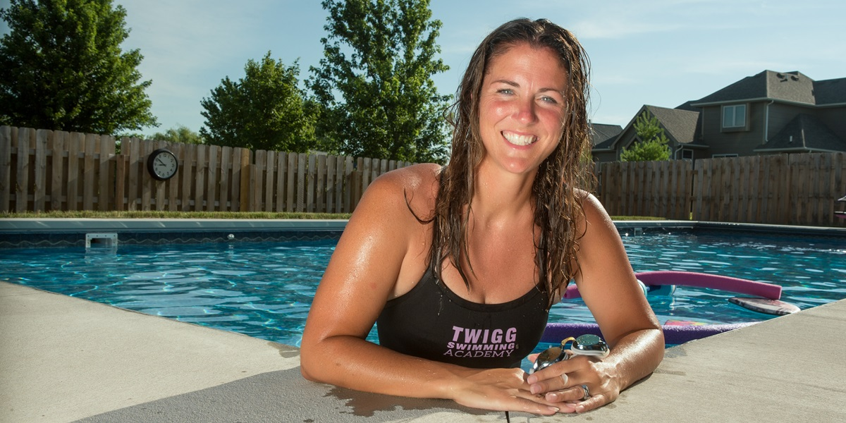 Shelley Twigg put in a pool at their family home in Waukee, Iowa, in 2016 and provided lessons for 650 children in the summer of 2017.