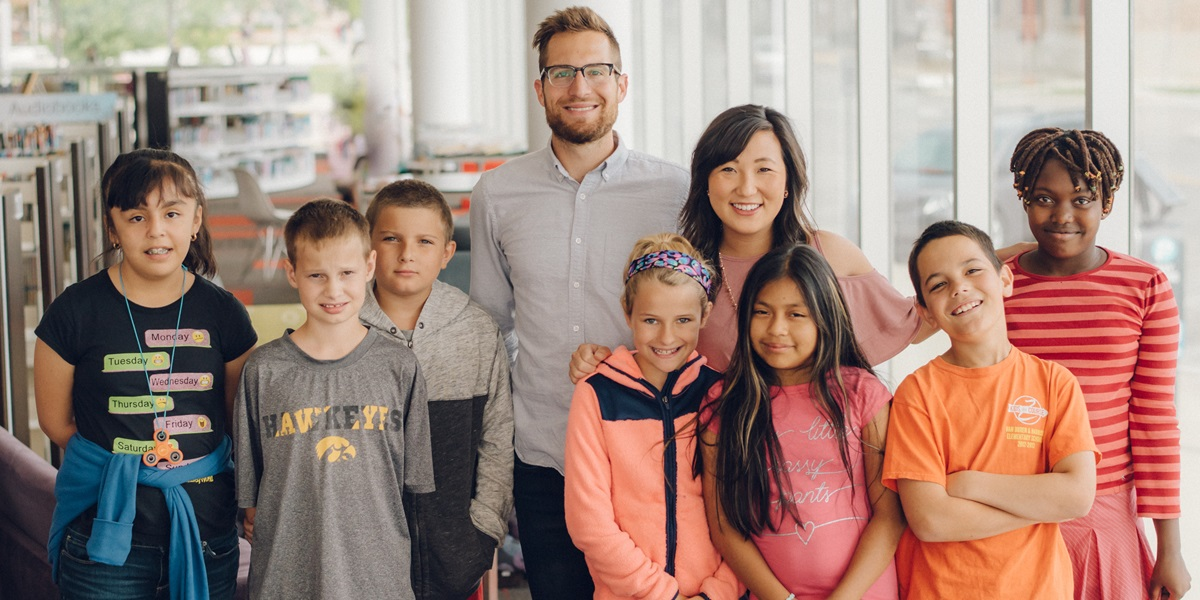 Greg and Hannah White are helping educate and inspire at-risk children in Cedar Rapids, Iowa, through the Zach Johnson Foundation's Kids on Course program.