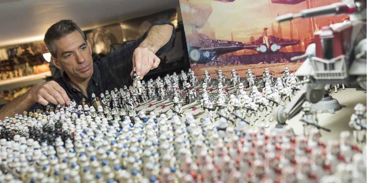 It's another world in the basement of Randy Van Peursem—one filled with stormtroopers, starfighters and blaster rifles.
