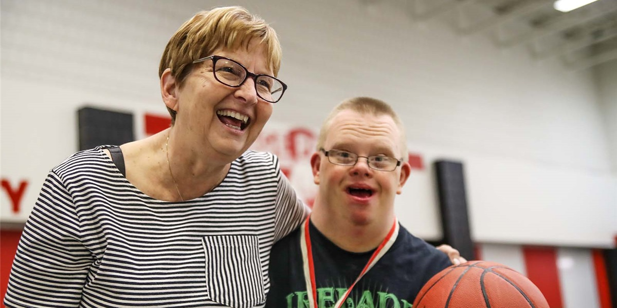 Peggy Koele received Special Olympics Iowa's highest volunteer award in May.